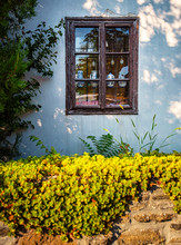 Wooden Window In The Old Town Of Tihany