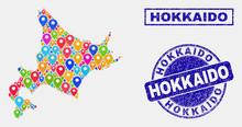 Vector Colorful Mosaic Hokkaid...