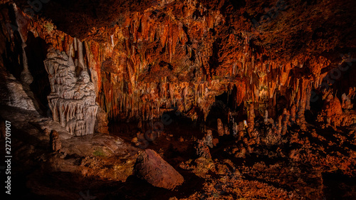 Cave stalactites, stalagmites, and other formations at Luray Caverns. VA. USA.