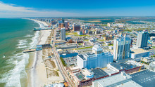 AERIAL VIEW OF ATLANTIC CITY B...