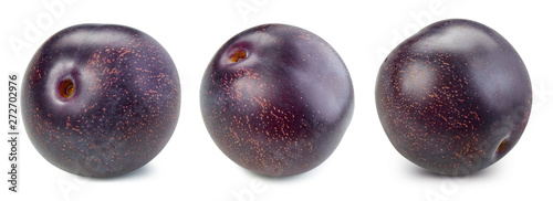 plum and slice clipping path Canvas Print