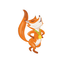Cute Red Fox Obtain Gold Medal At Modern Sport