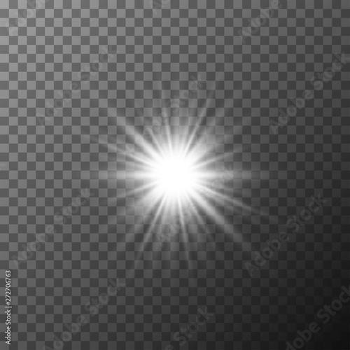 Valokuva Realistic starburst lighting