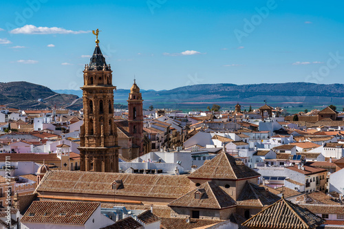 Photo  San Sebastian church tower in Antequera, Malaga Province, Andalusia, Spain