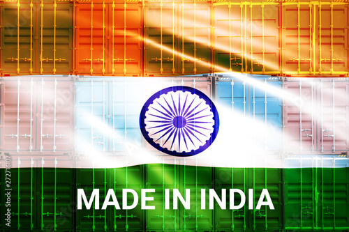 Trade war , Made in INDIA smart logistic concept  Shipping
