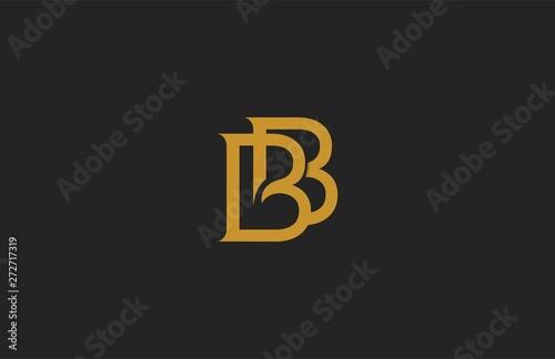 Photo Elegant BB Letter Linked Monogram Logo Design