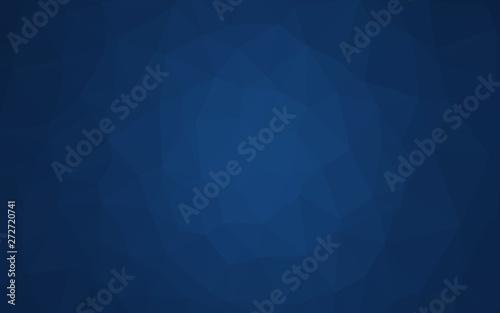 Dark BLUE vector polygon abstract layout. Canvas Print