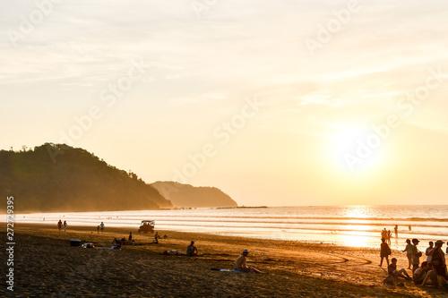 Foto auf Gartenposter Strand sunset on beach, photo as a background