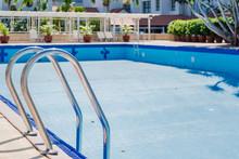 Empty Dry Swimming Pool Prepar...
