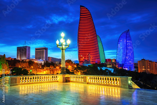 Baku city night view, Azerbaijan #272732733