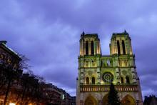 Notre Dame De Paris At Night, ...