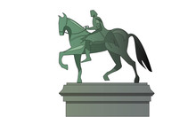 Statue Of A Great Conqueror On Horseback
