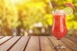 Leinwandbild Motiv Glass of alcohol  cocktail on background