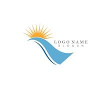 River Logo Template Vector Icon