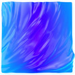 canvas print picture - Blue aquamarine gradient background. Liquid surface futuristic backdrop, fluid abstract shape, 3d illustration.