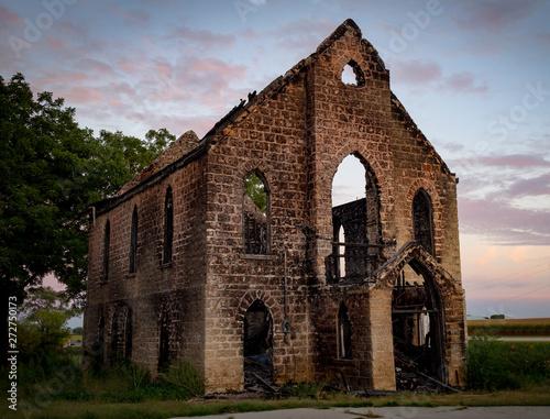 Fotografie, Obraz Old Burned Church