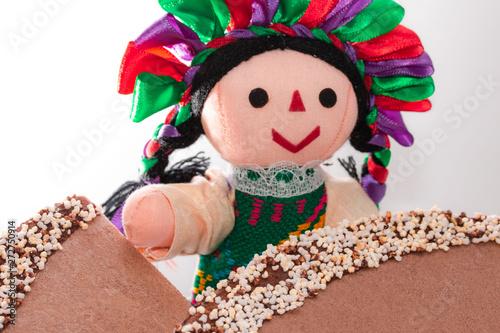 muñeca mexicana, maría Canvas Print