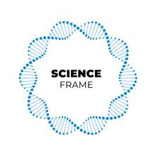 Vector Science Dna Flat Banner...