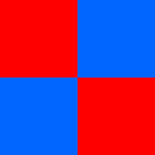 Red And Blue Checkerboard Patt...