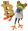 canvas print picture Frog doctor - 3D Illustration