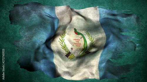 Fototapeta Guatemala turn flag obraz na płótnie