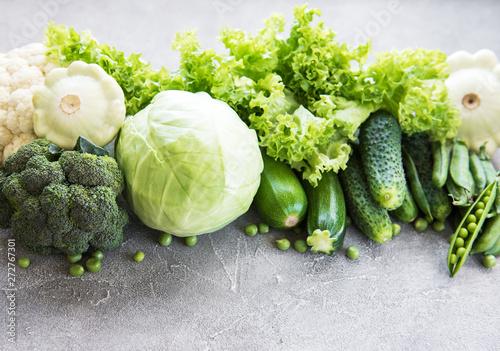 fototapeta na szkło Fresh green vegetables