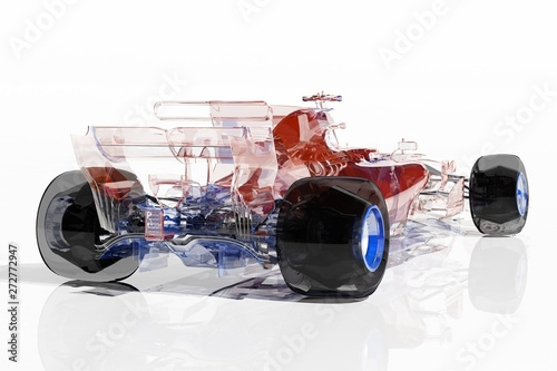 Wall Murals F1 Transparent model cars.