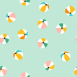 Seamless pattern with colorful beach balls. Vector summer vacation repeat design.
