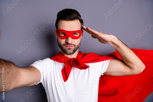 Fotografia Self-portrait of his he nice-looking attractive content cool candid macho virile