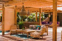 Stylishe Beach Bar In Paros, Griechenland