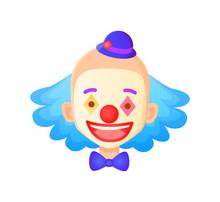 Smiling Man Wearing Makeup Vec...