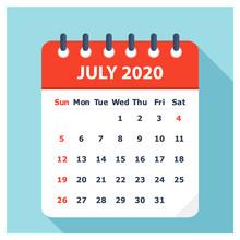 July 2020 - Calendar Icon - Ca...