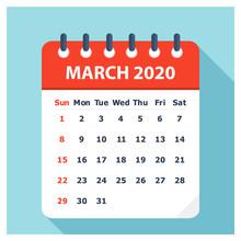 March 2020 - Calendar Icon - C...