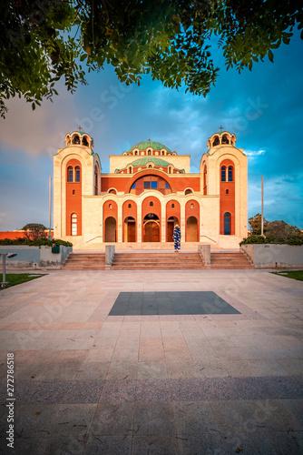 Tuinposter Mexico Beautiful sunset shot of Ayia Sofia Church in Nicosia, Cyprus