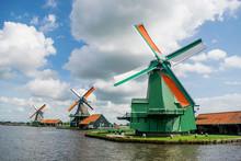 Dutch Windmills In Zaanse Schans Holland