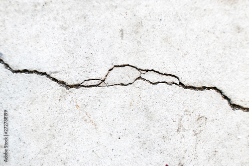Pinturas sobre lienzo  Crack on cement floor - Crepa su pavimento di cemento