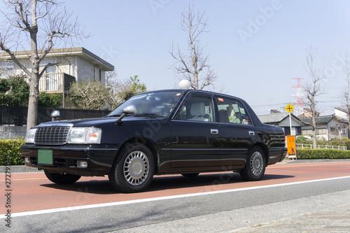 Billede på lærred タクシー 住宅地