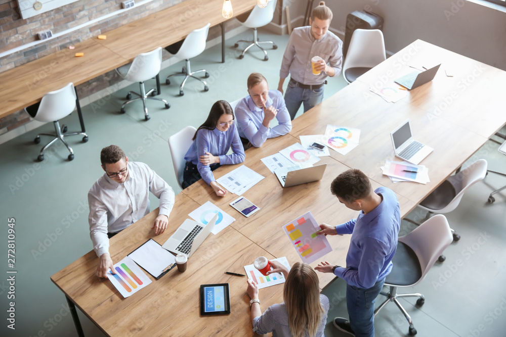 Fototapety, obrazy: Colleagues during business meeting in office
