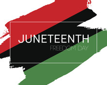 Hand Draw Juneteenth Freedom Day Flag