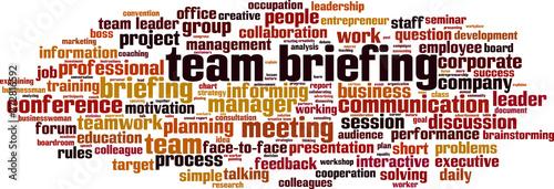 Fotografie, Obraz  Team briefing word cloud