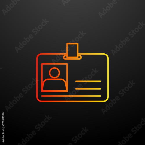 Id card nolan icon  Elements of global logistics set  Simple icon
