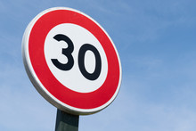 Sign Road Speed Limit 30 Restriction