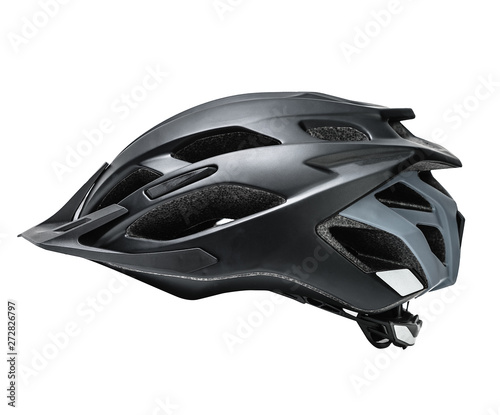 Fototapeta cycling helmet isolated on white. protection headwear.