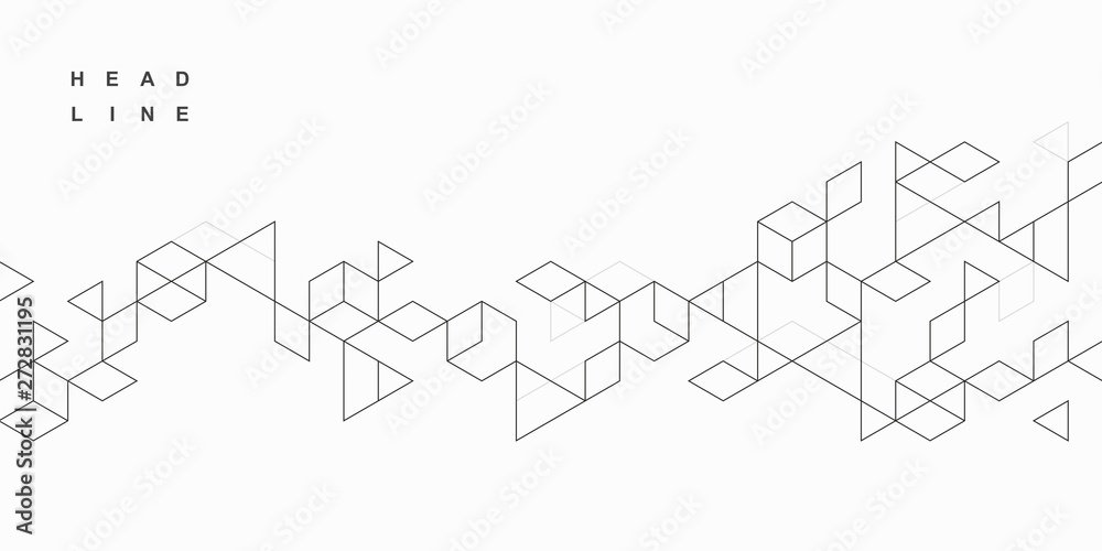 Fototapety, obrazy: Abstract geometric technological background. Vector creative design.