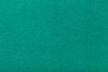 Dark Turquoise Matt Suede Fabric Closeup. Velvet Texture Of Felt.