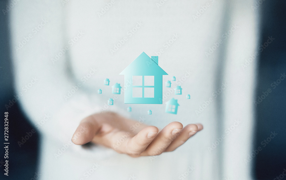 Fototapety, obrazy: New home or house concept