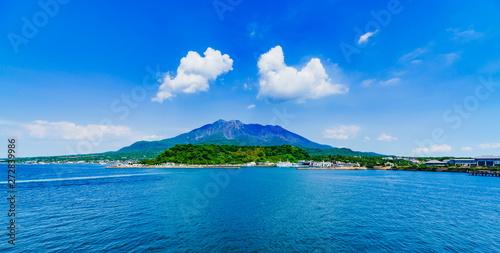 Photo [鹿児島県] 鹿児島湾からの桜島
