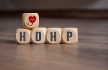 Cubes And Dice With HDHP High-deductible Health Plan