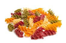 Italian Colored Pasta Isolated
