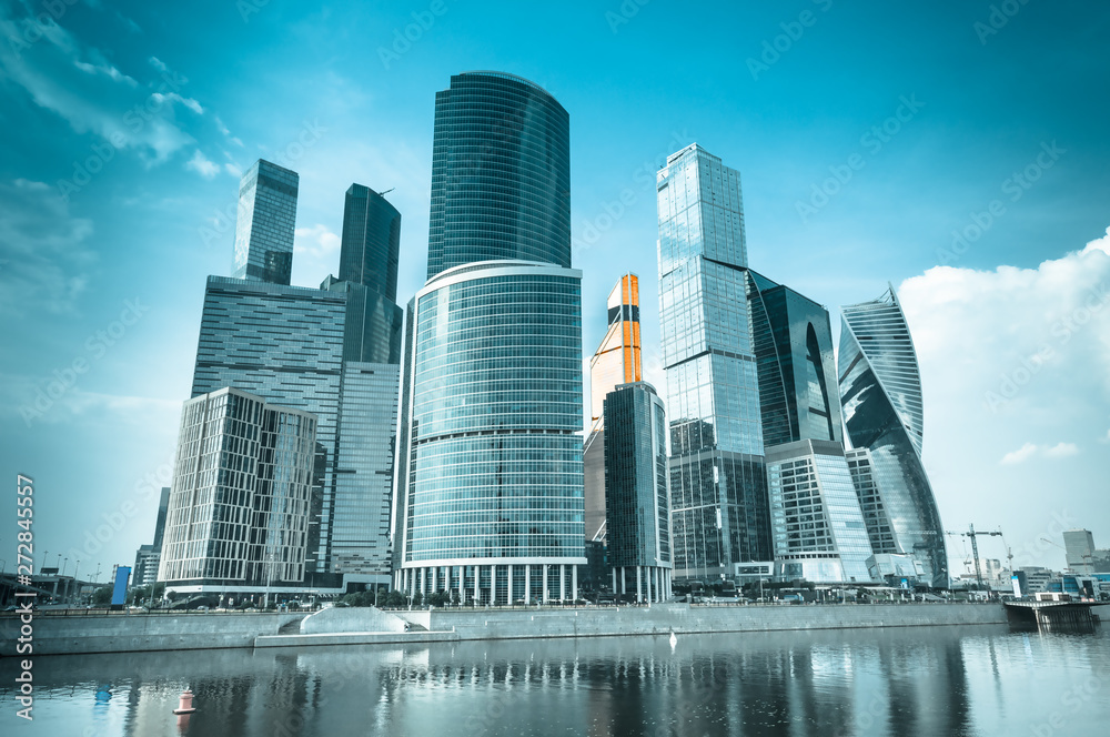 Fototapety, obrazy: View on Moscow International Business Center in Moscow, Russia